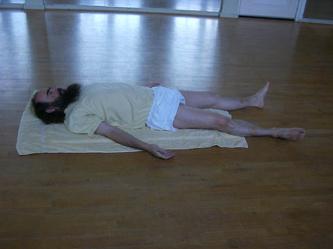 Lying relaxation pose, click for more.